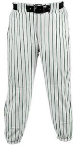 WHITE PANT/DARK GREEN STRIPES