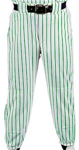 WHITE PANT/KELLY STRIPES