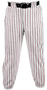 WHITE PANT/MAROON STRIPES