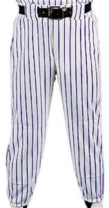 WHITE PANT/PURPLE STRIPES