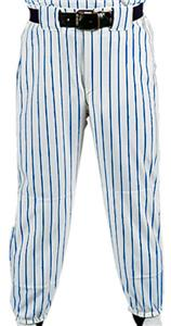 WHITE PANT/ROYAL STRIPES