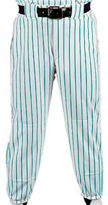 WHITE PANT/TEAL STRIPES