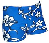 "Plangea Spandex 4"" Sports Shorts - Hibiscus Print"
