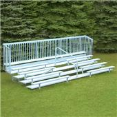 Fisher 5 Row Bleachers with Guard Rail & Aisle