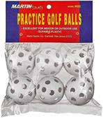 Martin Sports Plastic Golf Balls (Package of 6)