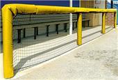"""Fisher Baseball 48"""" Grommeted Rail Padding"""