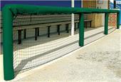 """Fisher Baseball 72"""" Grommeted Rail Padding"""