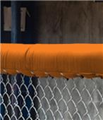 Fisher Baseball 14' Chain Link Fence Top Padding