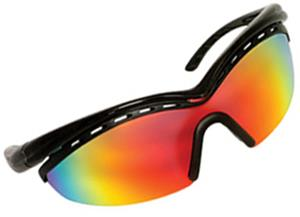 BLACK FRAME / RAINBOW METALLIC LENS