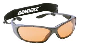 SILVER METALLIC FRAME / ORANGE LENS