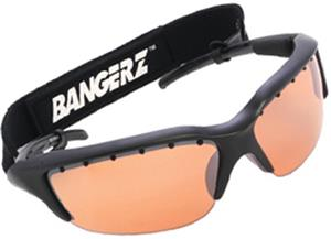 BLACK FRAME / ORANGE LENSES
