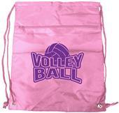 Volleyball Drawstring Backpack w/ Zipper