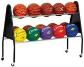 Champion Sports Basketball 15 Ball Cart