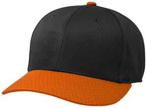 (COMBO) BLACK CROWN/ORANGE VISOR