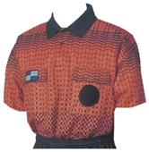 NISOA College Referee Orange Grid SS Shirts