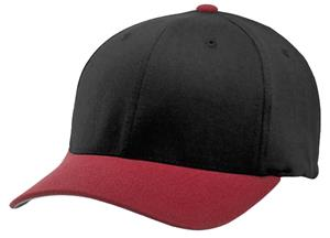 (COMBO) BLACK CROWN/RED VISOR