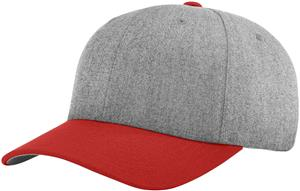 (COMBO) HEATHER GREY CROWN/ RED VISOR