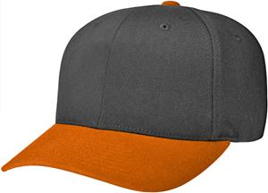 BLACK CAP / ORANGE  VISOR