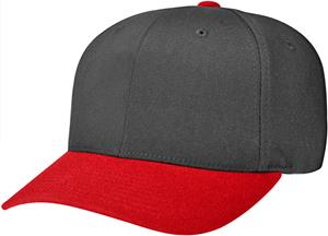 (COMBO) BLACK CROWN / RED VISOR