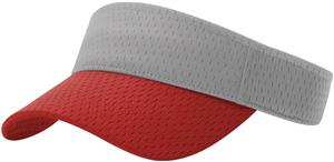 (COMBO) GREY CROWN/RED VISOR (BILL)