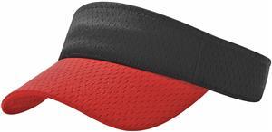 (COMBO) BLACK CROWN/RED VISOR (BILL)