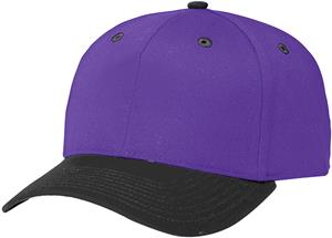 WHITE CAP / PURPLE BILL