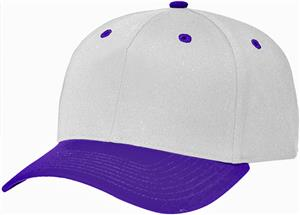 (COMBO) WHITE CROWN / PURPLE VISOR