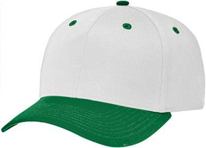 (COMBO) WHITE CROWN / DARK GREEN VISOR
