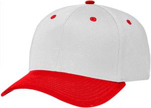 (COMBO) WHITE CROWN / RED VISOR