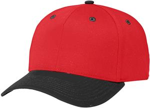 (COMBO) RED CROWN / BLACK VISOR