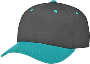 (COMBO) BLACK CROWN / BLUE TEAL VISOR
