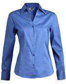 Edwards Womens V-Neck Tailored Stretch Blouse