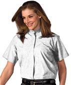 Edwards Womens Short Sleeve Banded Collar Shirt