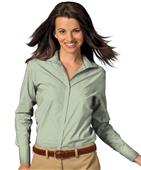 Edwards Womens Casual Poplin Long Sleeve Blouse