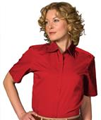 Edwards Women Cotton Plus Twill Short Sleeve Shirt
