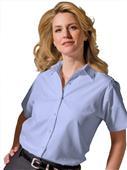Edwards Womens Pinpoint Short Sleeve Oxford Shirt