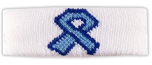 WHITE W/LT. BLUE RIBBON