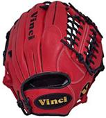 "Vinci Infield/Pitcher 11.5"" Red Baseball Gloves"