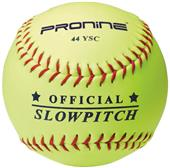 "Pro Nine Official Yellow 12"" Slowpitch Softball-DZ"