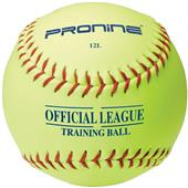 "Pro Nine 12"" Yellow Training Ball Softballs (DZ)"