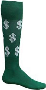 DARK GREEN/WHITE DOLLAR SIGNS