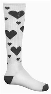 WHITE/BLACK HEARTS