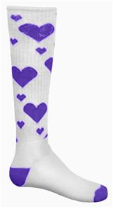 WHITE/PURPLE HEARTS