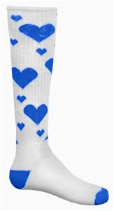 WHITE/ROYAL HEARTS