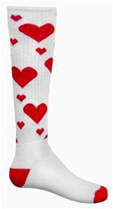 WHITE/RED HEARTS