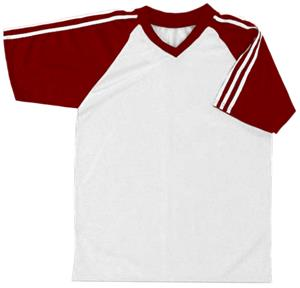 26 - WHITE/MAROON/WHITE