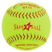 "Champion 11"" Syn. Leather Safety Softballs (DOZEN)"