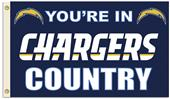NFL You're in Chargers Country 3' x 5' Flag