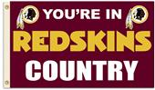 NFL You're in Redskins Country 3' x 5' Flag