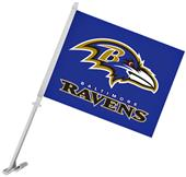 "NFL Baltimore Ravens 2-Sided 11"" x 14"" Car Flag"